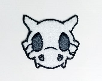 PREORDER - Chenille Cubone Skull Pokemon Inspired Patch | Hand Made Patch | Pokemon Patch