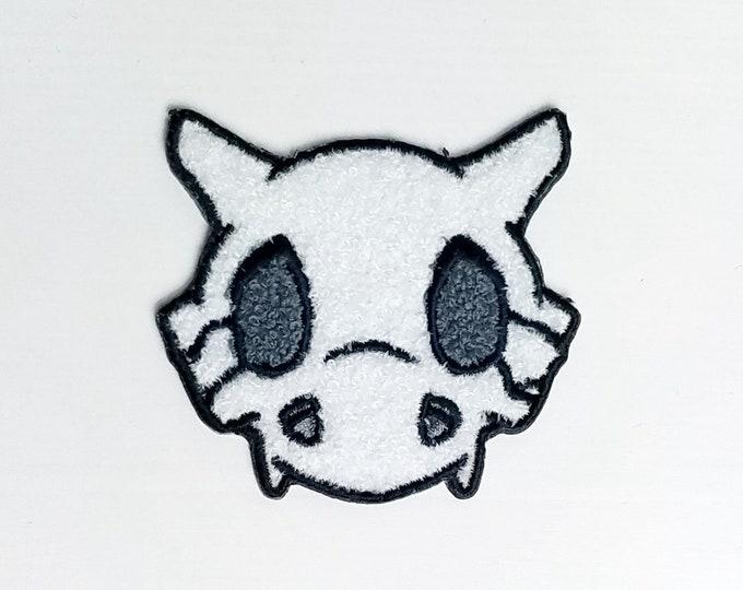 Chenille Cubone Skull Pokemon Inspired Patch | Hand Made Patch | Pokemon Patch