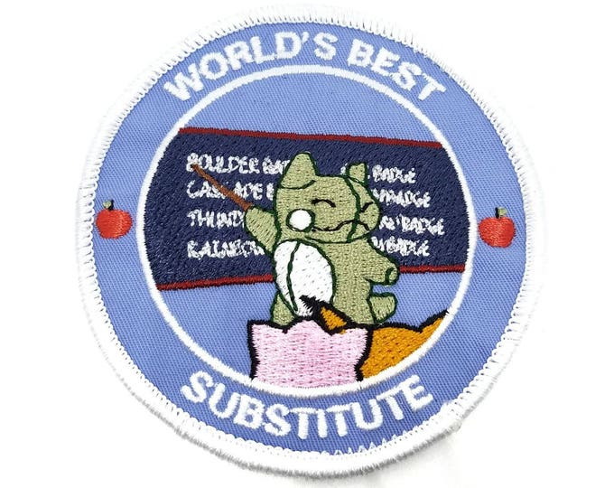 World's Best Substitute Pokemon Inspired Iron-on Patch | Hand Made Patch | Pokemon Patch