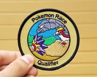 Pokemon Race Qualifier Pokemon Inspired Iron-on Patch | Hand Made Patch | Pokemon Patch