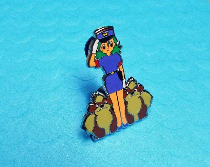 Officer Jenny Police Academy Pokemon Inspired Enamel Pin | Hand Made Pin | Pokemon Pin