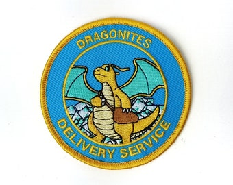 Dragonites Delivery Service Pokemon Inspired Patch | Hand Made Patch | Pokemon Patch