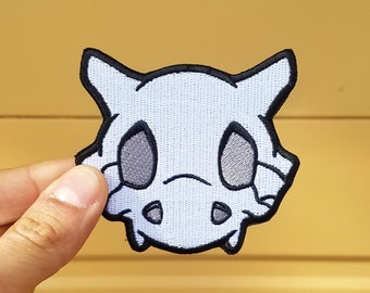 Cubone Skull Pokemon Inspired Patch | Hand Made Patch | Pokemon Patch