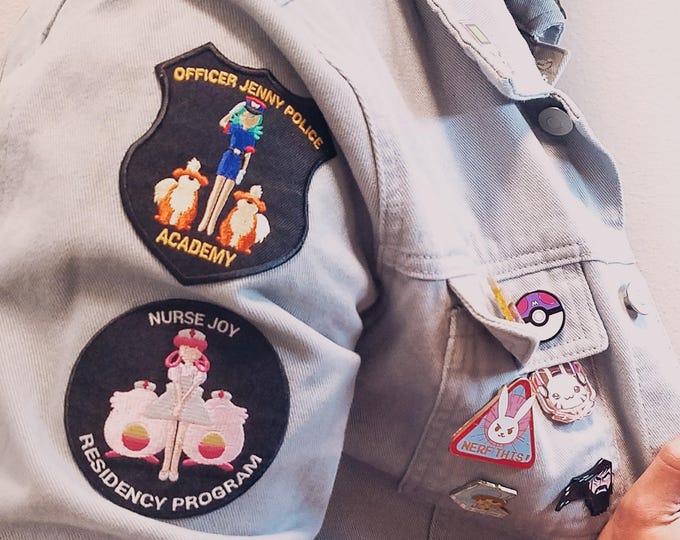 Set of Both Nurse Joy Residency Program & Officer Jenny Police Academy Pokemon Inspired Patches