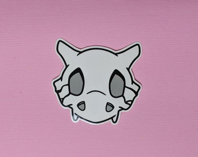 Cubone Skull Pokemon Inspired Sticker | Hand Made Sticker | Pokemon Sticker