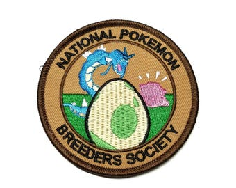 National Pokemon Breeders Society Pokemon Inspired Iron-on Patch | Hand Made Patch | Pokemon Patch