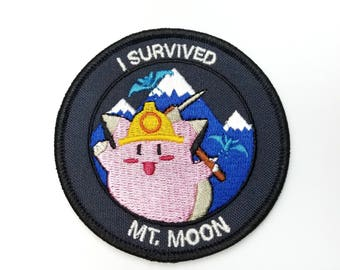 I Survived Mt. Moon Pokemon Inspired Iron-on Patch | Hand Made Patch | Pokemon Patch