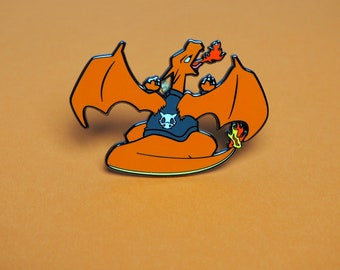 Charizard | Cycling Road Biker Club Pokemon Inspired Enamel Pin | Hand Made Pin | Pokemon Pin
