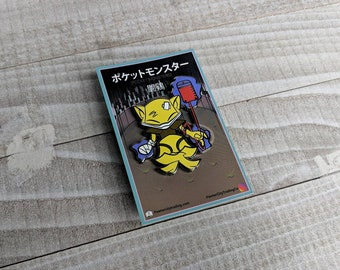 Abra (OG)   Where's Nurse Joy Collection Pokemon Inspired Enamel Pin   Hand Made Pin   Pokemon Pin