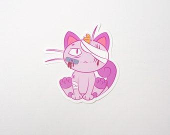 Meowth (Pink) | Where's Nurse Joy Collection Pokemon Inspired Sticker | Hand Made Sticker | Pokemon Sticker