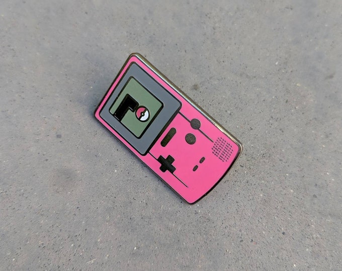 Pink | Gameboy Color Pokemon Inspired Hard Enamel Pin | Hand Made Pin | Pokemon Pin