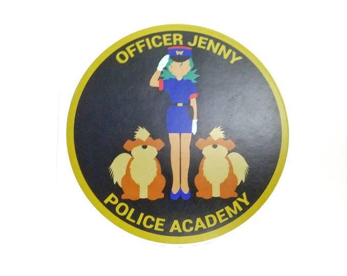 Officer Jenny Police Academy Pokemon Inspired Sticker | Hand Made Sticker | Pokemon Sticker