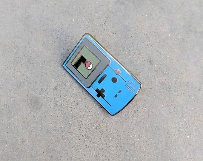 Blue | Gameboy Color Pokemon Inspired Hard Enamel Pin | Hand Made Pin | Pokemon Pin