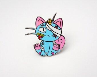 Meowth (Blue)   Where's Nurse Joy Collection Pokemon Inspired Enamel Pin   Hand Made Pin   Pokemon Pin