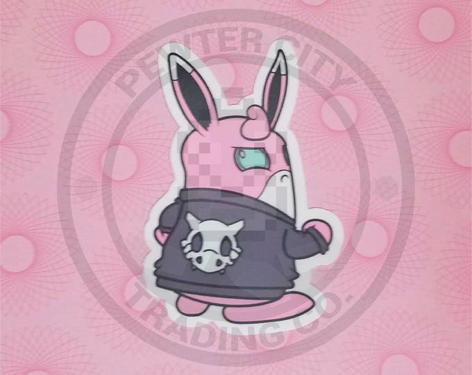 Cycling Road Biker Club Wigglytuff Pokemon Inspired Sticker | Hand Made Sticker | Pokemon Sticker