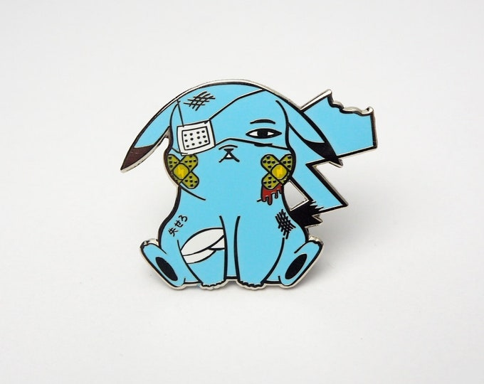 Pikachu (Blue) | Where's Nurse Joy Collection Pokemon Inspired Enamel Pin | Hand Made Pin | Pokemon Pin