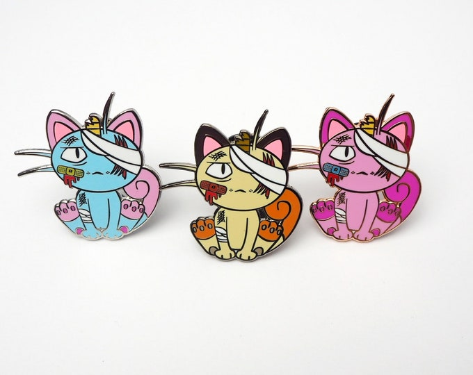 Meowth (Discounted 3 Color Set) | Where's Nurse Joy Collection Pokemon Inspired Enamel Pins | Hand Made Pins | Pokemon Pins