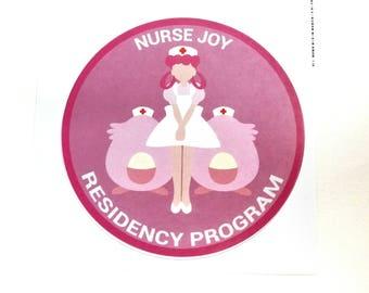 Nurse Joy Residency Program Pokemon Inspired Sticker   Hand Made Sticker   Pokemon Sticker