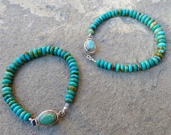 Turquoise Stacking Bracelet,Turquoise Bangle,Turquoise Layering Bracelet,Turquoise Single Strand Bracelet,Stacking Bracelet