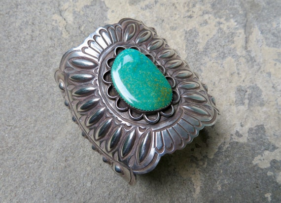 Native American Turquoise, Vintage Turquoise Cuff,