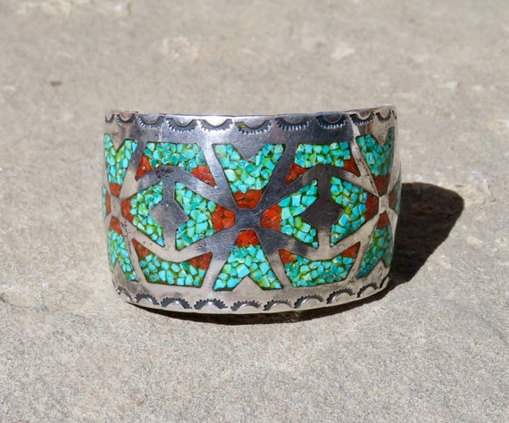 Native American Turquoise, Turquoise Chip Bracelet