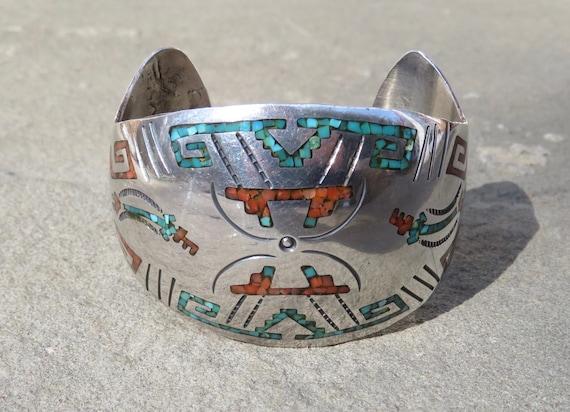 Native American Turquoise, Vintage Turquoise Brac… - image 1