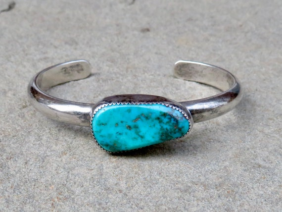 Vintage Turquoise Bracelet, Native American Jewelr