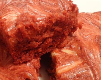 Dacadent Red Velvet Brownie RECIPE with Cream Cheese Frosting