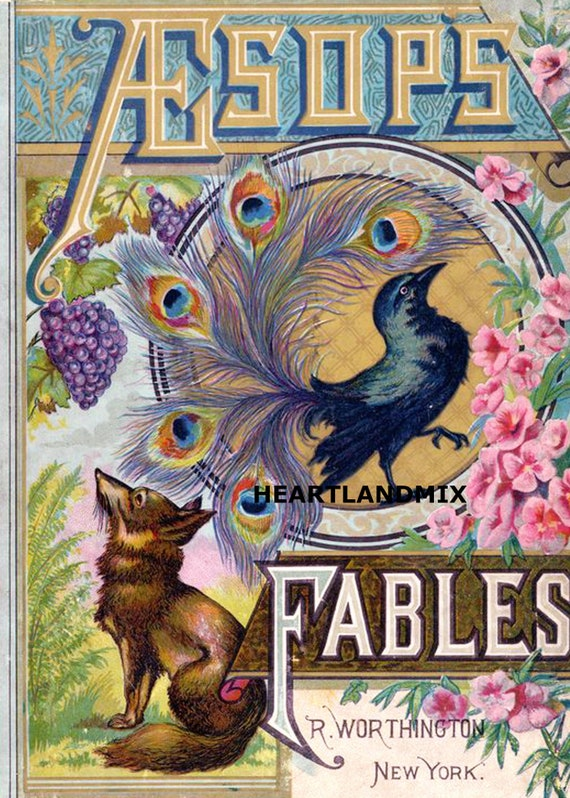 photograph relating to Aesop's Fables Printable referred to as Aesops Fables Antique Looking through E-book Instance Electronic Graphic Obtain Printable 300 dpi