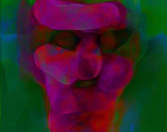 Medieval Head 1 - Limited Edition Digital Pigment Print