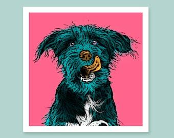 edd5c5d4654f Custom pet portrait. dog portrait from your photos. Andy Warhol portrait.  pop art your dog. customized pet portrait. digital print