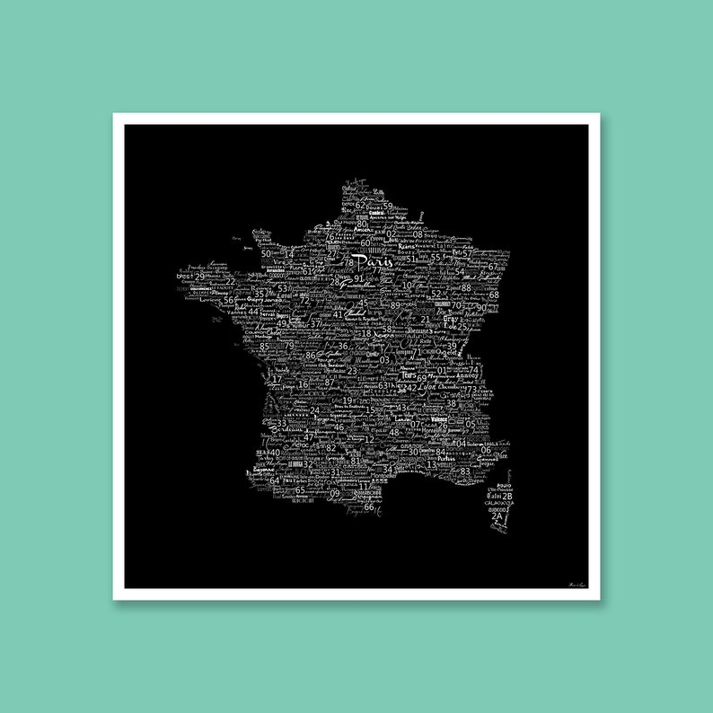 Map Of France Poster.Typography Map Of France Art Poster France City Map France Typography Art France Poster Print France Word Cloud