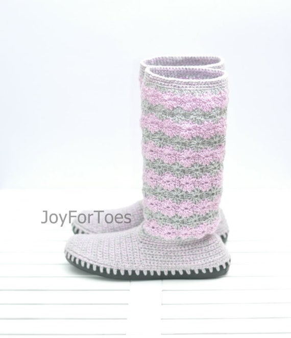 Ganchillo botas zapatos para la mujer de la calle cordones | Etsy