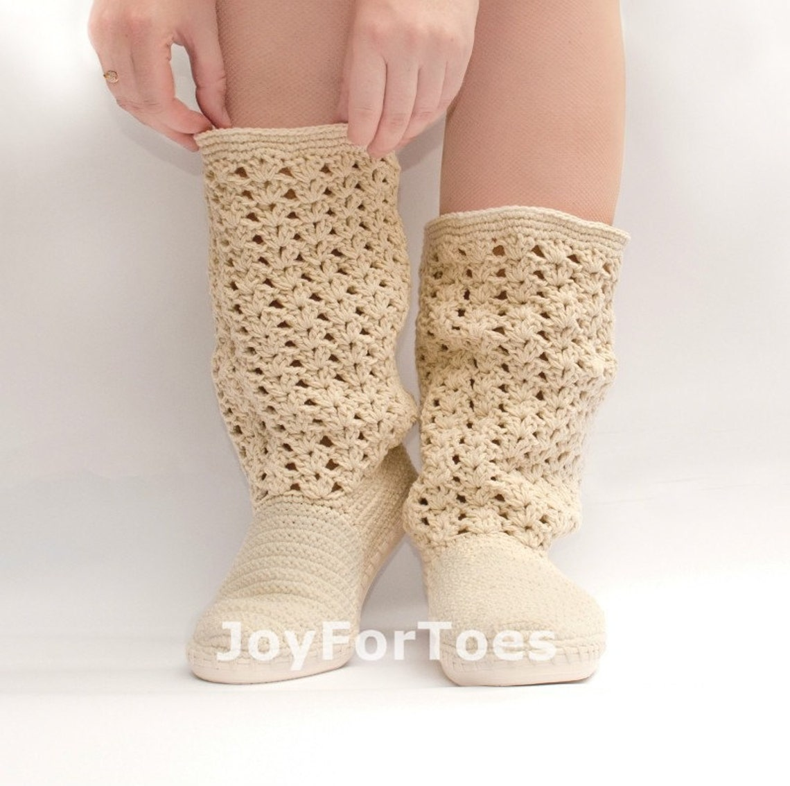 Ganchillo botas zapatos para el estilo Boho de calle mujer hizo orden de encaje botas