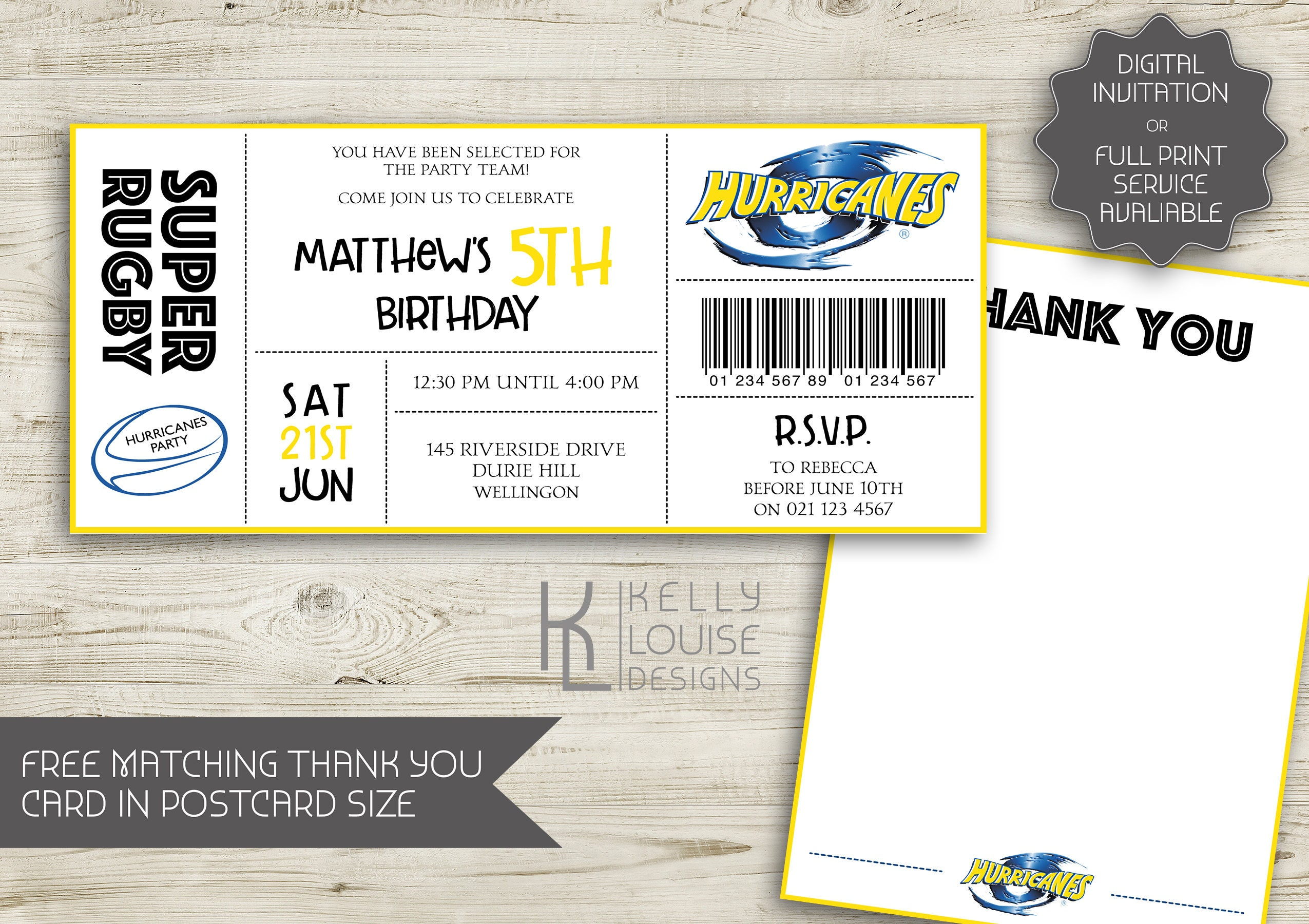 Hurricanes birthday invitation rugby birthday party new zealand hurricanes birthday invitation rugby birthday party new zealand rugby super rugby party rugby ticket invitation nz rugby 164 stopboris Choice Image