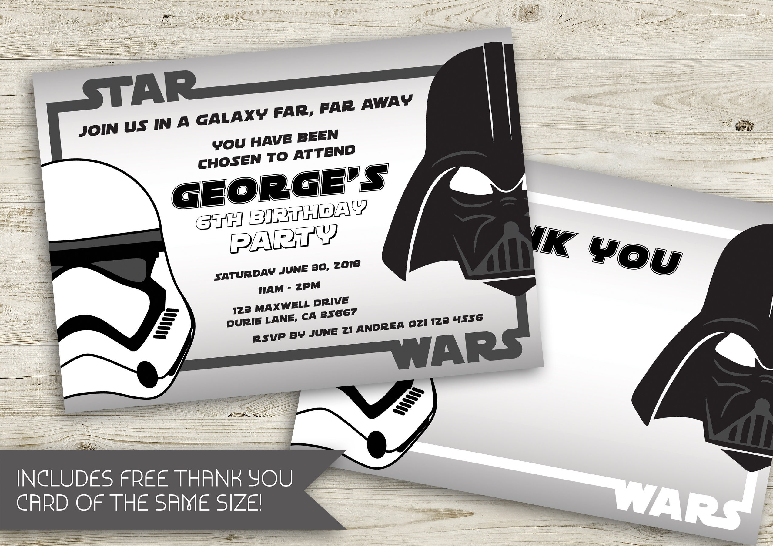 Star Wars Birthday Invitation   Star Wars   Star Wars Party   Star ...