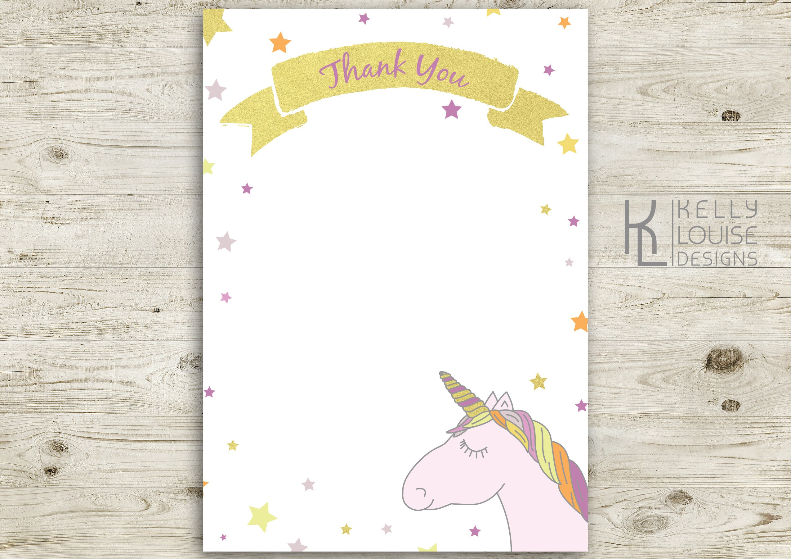 Gold Unicorn Birthday Invitation | Printable Unicorn Invitation ...