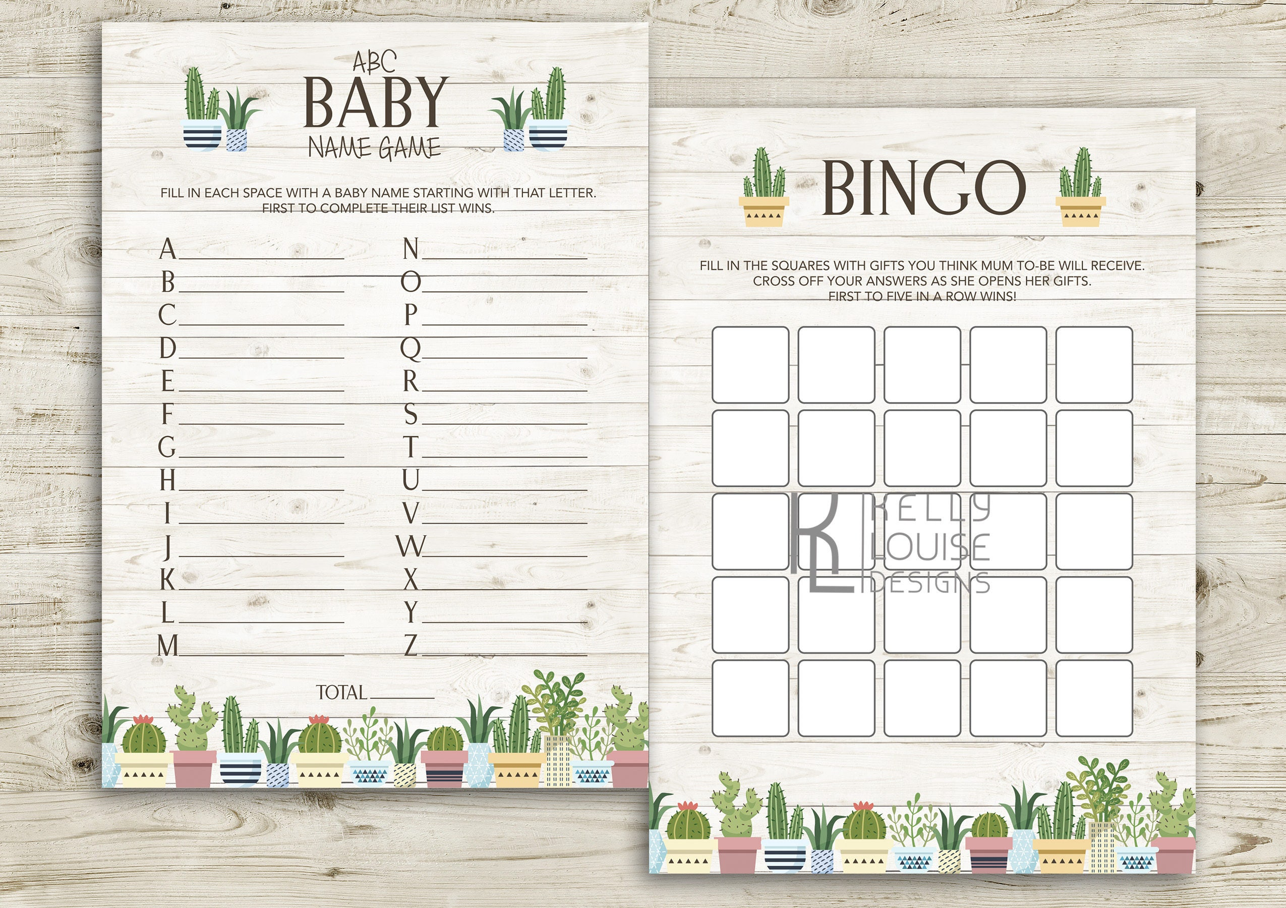 Cactus Baby Shower Games Printable Baby Shower Games Baby Shower