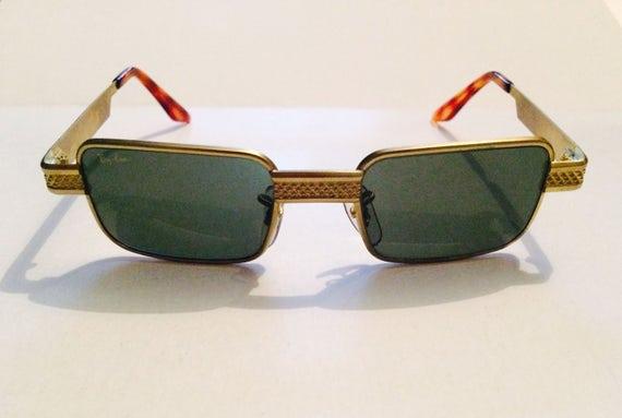 Vintage RayBan Brass Rectangular Sunglasses