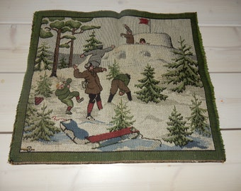 Old / vintage swedish woven wall hanging