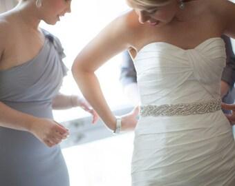 Wedding Bridal Beaded Sash Crystal Belt