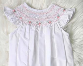 Infant Girl Clothes with Smocking Smocked Baby Dress 412807 Childrens Clothes Smocked DD150 Twin Baby Clothes