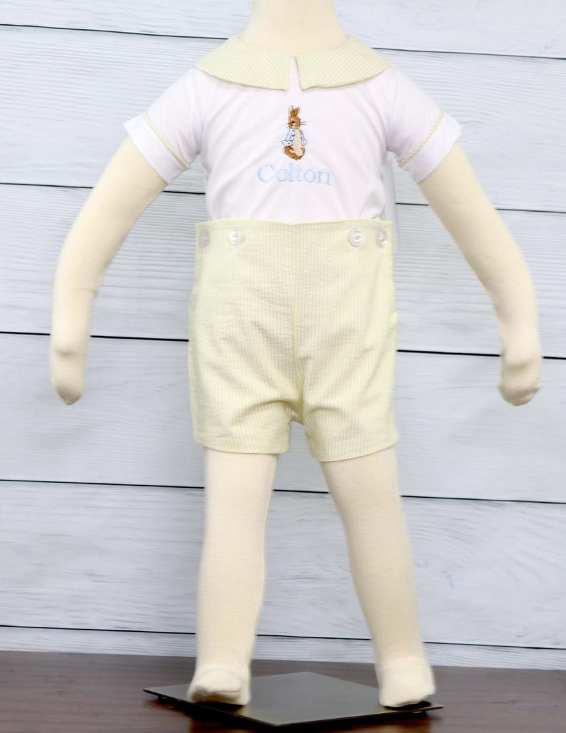 Bunny Romper for Baby Boy Easter Outfit Peter Rabbit Outfit  5340de773ab4