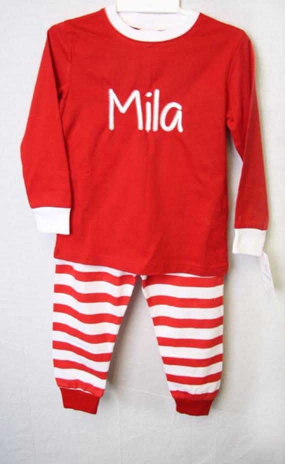 c0932d3c9 Baby Christmas Pajamas Baby Boy Christmas PJS Monogrammed