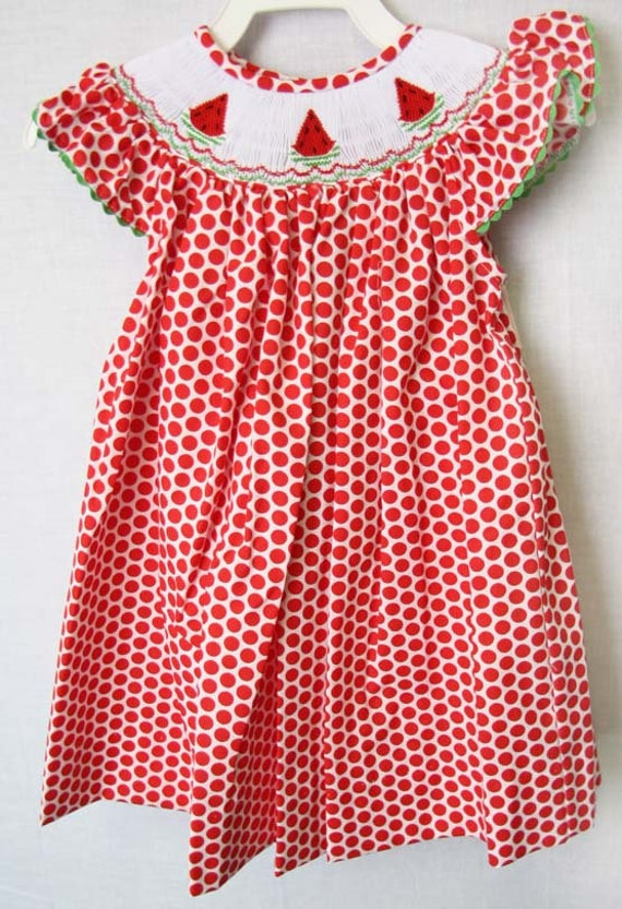 8c483bb45 Fourth of July Baby Girl Watermelon Dress Baby Girl Clothes