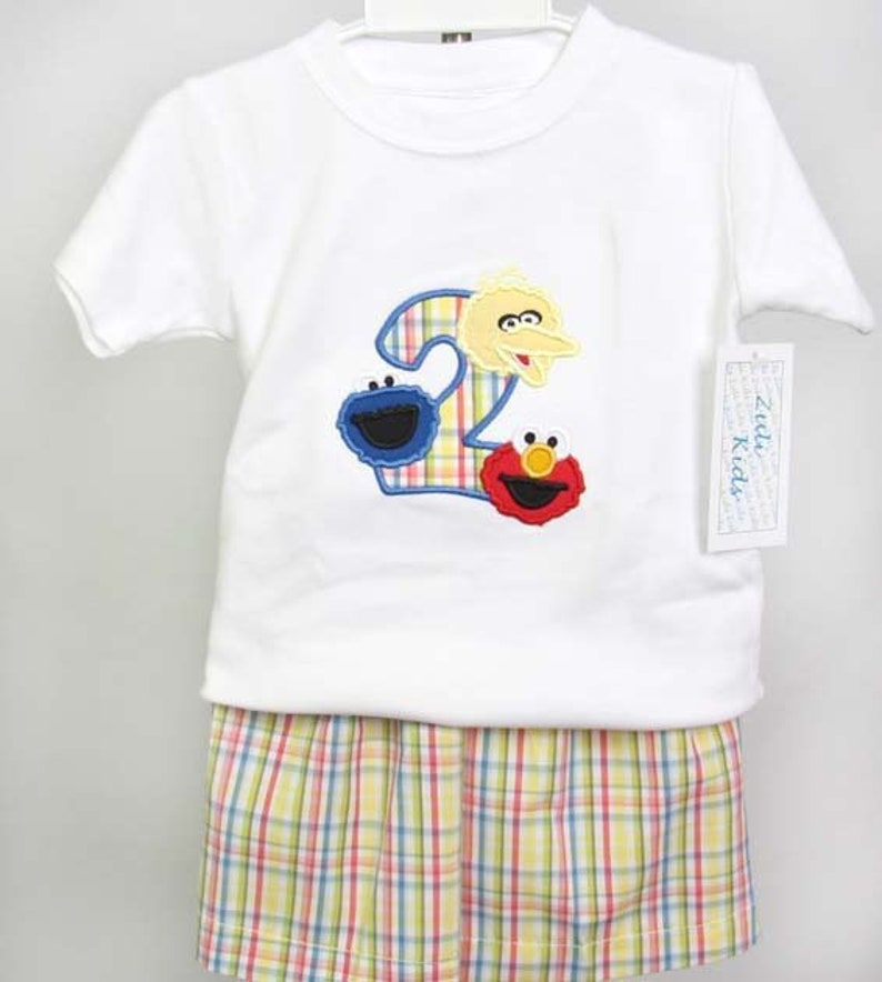 Elmo Birthday Outfit Shirt 293000
