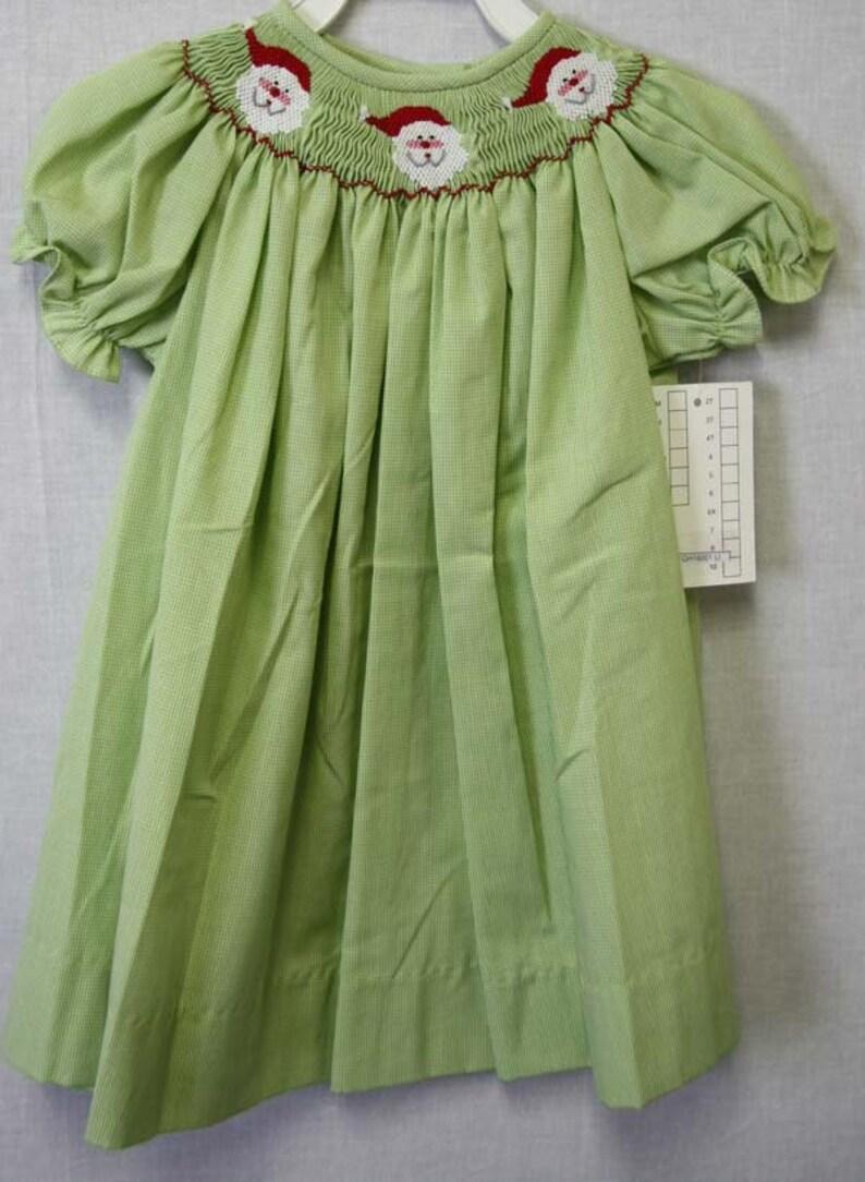 f3c756312 Christmas Smocked Smocked Christmas Dress Smocked Clothing | Etsy