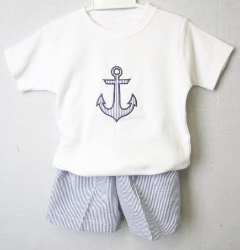 696c699b7 Baby Sailor Outfit withAnchor Boys Sailor Outfit in Navy