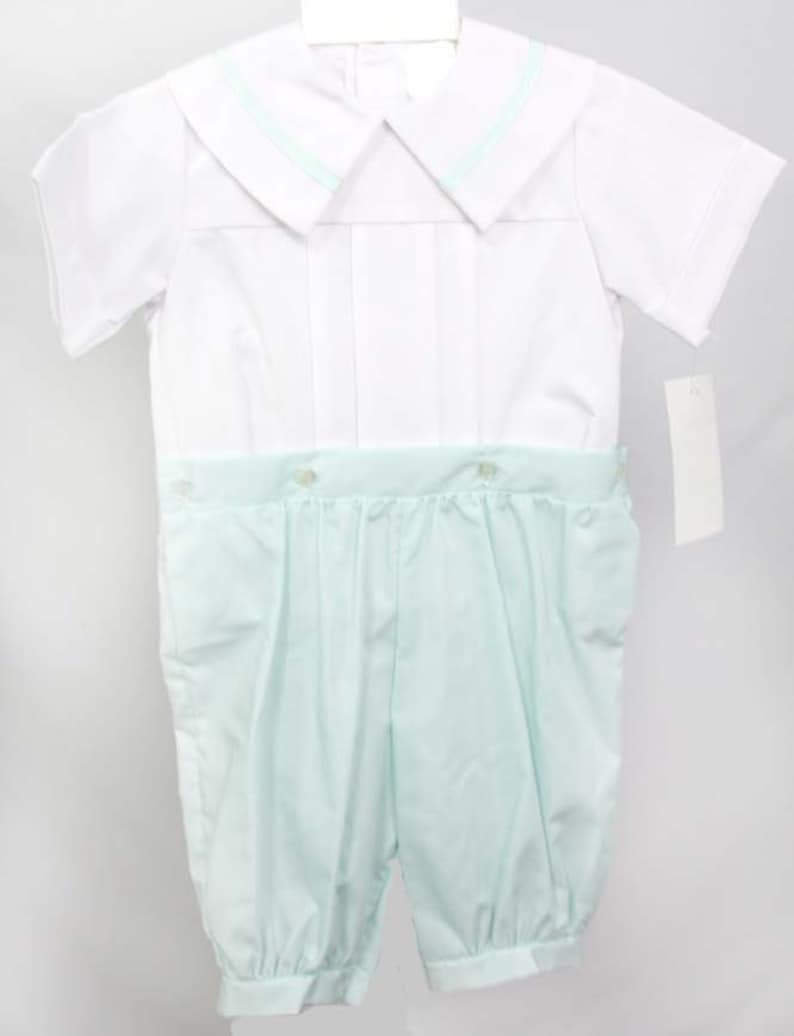 Baptism Clothes  292889 Button-On Romper Boys First Birthday Baby Boy Dedication Childrens Clothing Baptism Outfit