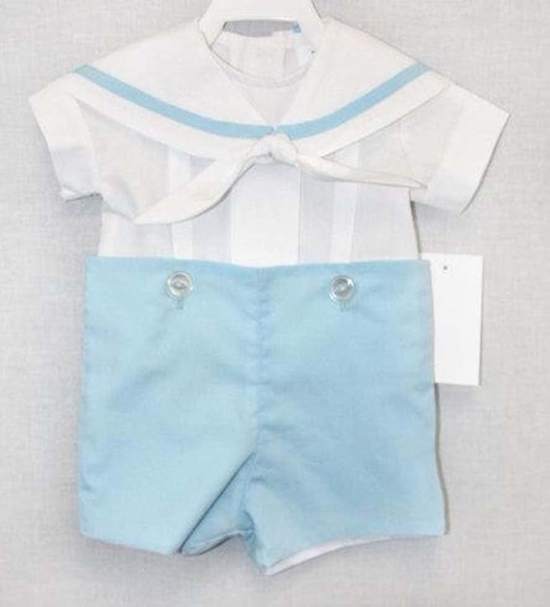 ac435e641 Baby Sailor Outfit with tie Boys Sailor Outfit in Navy Boys